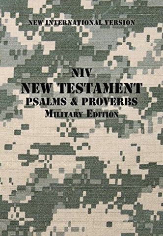 NIV, Military Edition New Testament with Psalms and   Proverbs, Pocket-Sized, Paperback, Digi Camo