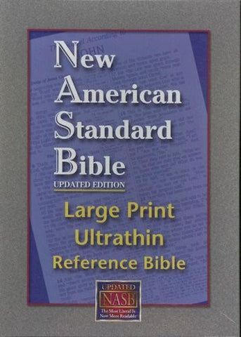 NASB Large Print Ultrathin Reference (Bugundy, Bonded Leather)