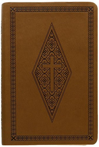 NASB Compact Bible, Brown Diamond/Cross, LT