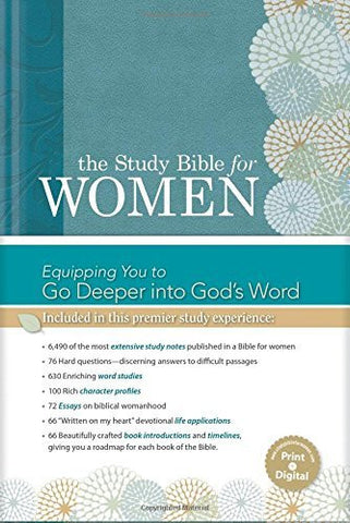 The Study Bible for Women, Teal/Sage LeatherTouch Indexed