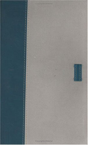 The Holman Ultrathin Bible Classic Edition: Holman Christian Standard,Slide Tab, Blue-gray, Bonded Leather