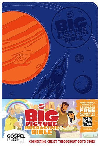 The Big Picture Interactive Bible for Kids, Orange/Purple Creation LeatherTouch: Connecting Christ Throughout God's Story (The Gospel Project)