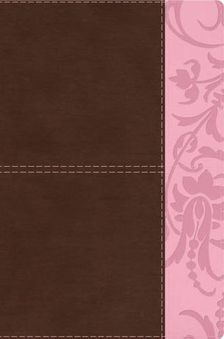 The Study Bible for Women, Brown/Pink LeatherTouch Indexed