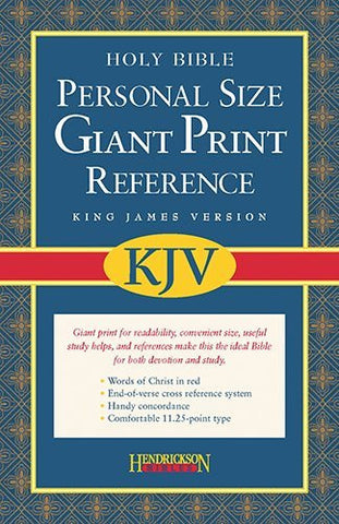 The Holy Bible: King James Version, Black Imitation Leather, Personal Size, Giant Print Reference Bible