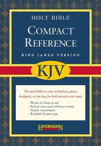 The Holy Bible: King James Version, Burgundy, Bonded Leather, Compact, Reference, Magnetic Closure