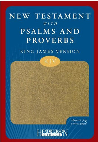 New Testament with Psalms and Proverbs-KJV-Magnetic Closure