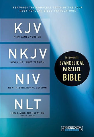 The Complete Evangelical Parallel Bible: King James Version, New King James Version, New International Version, New Living Translation, Black, Bonded Leather