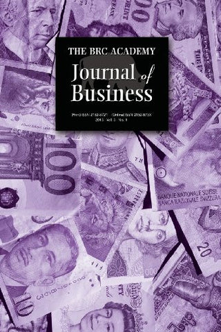 The Brc Academy Journal of Business: Volume 3, Number 1