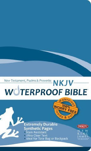 Waterproof Bible NKJV NT, Ps, Pr Blue Wave