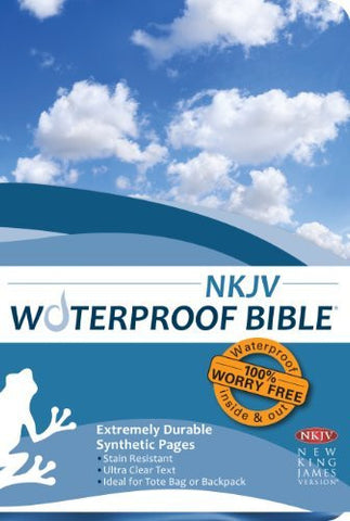Waterproof Bible - NKJV - Blue
