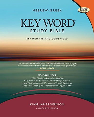 The Hebrew-Greek Key Word Study Bible: KJV Edition, Burgundy Bonded Leather Thumb-Indexed (Key Word Study Bibles)