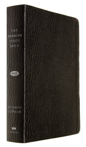 The Jeremiah Study Bible, NKJV: Black LeatherLuxe(TM) w/thumb index