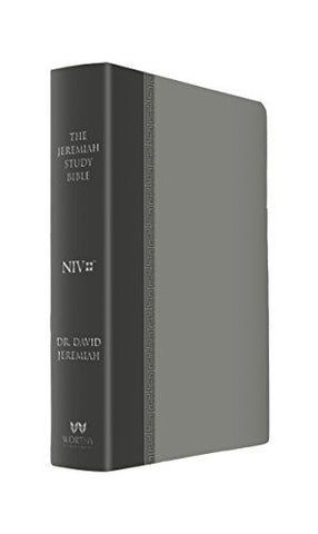 The Jeremiah Study Bible: What It Says. What It Means. What It Means for You. (NIV) Gray LeatherLuxe
