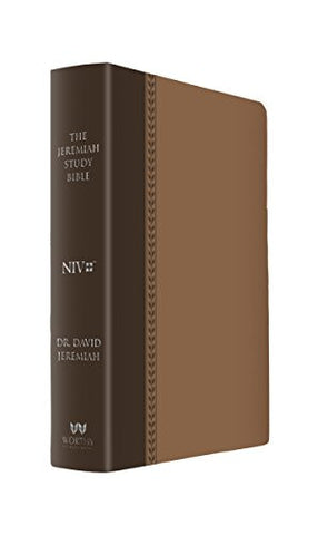 The Jeremiah Study Bible: What It Says. What It Means. What It Means for You. (NIV) Brown LeatherLuxe