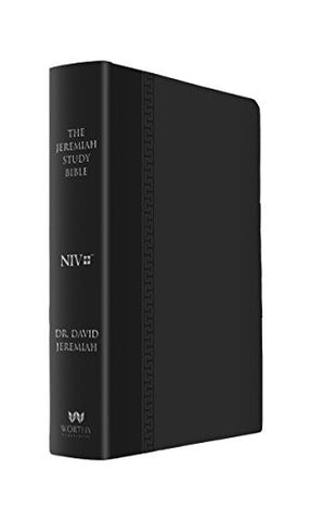 The Jeremiah Study Bible: What It Says. What It Means. What It Means for You. (NIV) Black LeatherLuxe
