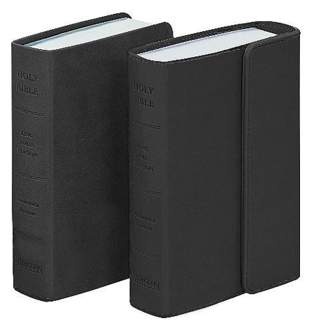 The Holy Bible: King James Version, Black/Silver, Reference, Cross-References, Concordance, Ribbon Marker