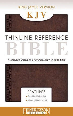 The Holy Bible: King James Version Chestnut Brown Flexisoft Leather Thinline Reference Bible