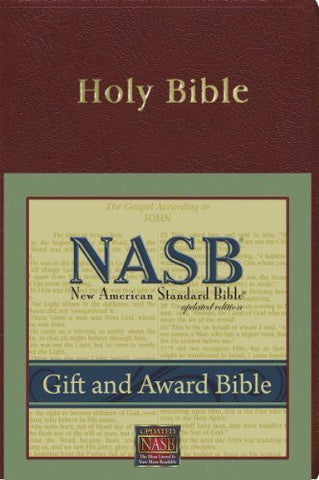 New American Standard Gift & Award Bible; Burgundy Imitation Leather