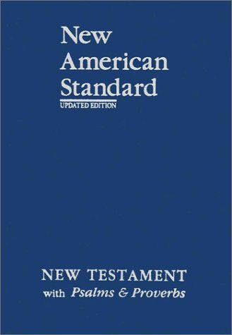 New American Standard New Testament with Psalms and Proverbs; Blue Imitation Leather