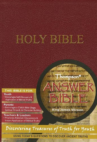 Thompson Answer Bible - KJV - Simulated Burgundy Leather