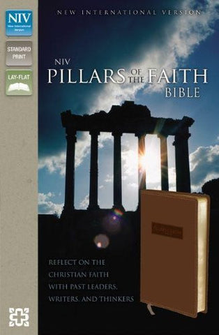 NIV, Pillars of the Faith, Imitation Leather, Tan, Lay Flat