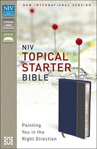 NIV, Topical Starter Bible, Imitation Leather, Blue/Gray, Lay Flat