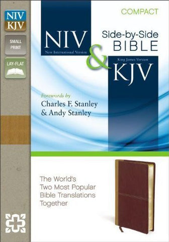 NIV, KJV, Side-by-Side, Compact, Imitation Leather, Tan/Red, Lay Flat: God's Unchanging Word Across the Centuries
