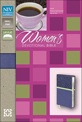 NIV, Women's Devotional Bible, Compact, Imitation Leather, Blue, Lay Flat