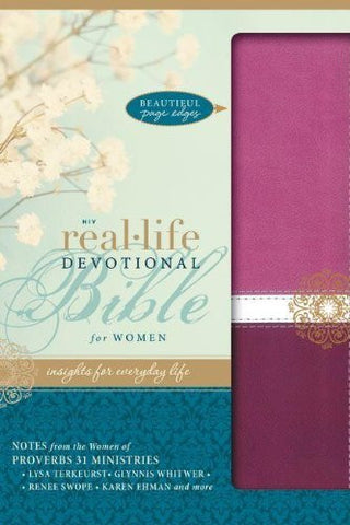 NIV, Real-Life Devotional Bible for Women, Imitation Leather, Pink/Red: Insights for Everyday Life