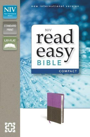 NIV, ReadEasy Bible, Compact, Imitation Leather, Pink/Brown, Lay Flat