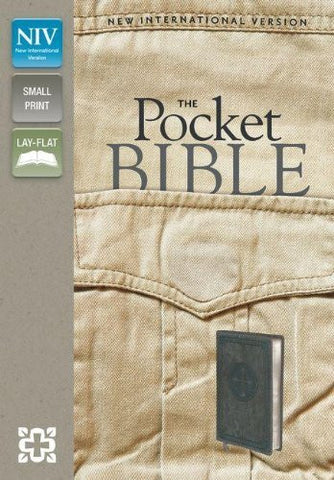 NIV, Pocket Bible, Imitation Leather, Gray, Lay Flat