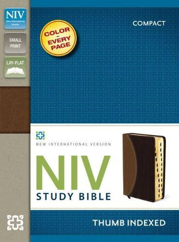 NIV Study Bible, Compact Indexed, Small Print