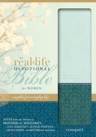 NIV, Real-Life Devotional Bible, Imitation Leather, Green/Blue: Insights for Everyday Life