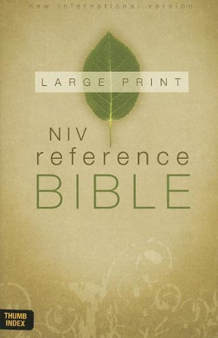 NIV, Reference Bible, Large Print (12pt), Hardcover, Indexed