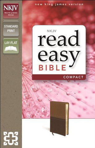 NKJV, ReadEasy Bible, Compact, Imitation Leather, Tan/Brown