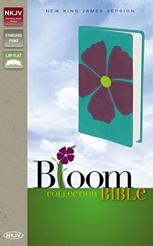 NKJV, Bloom Collection Bible, Compact, Imitation Leather, Purple, Lay Flat