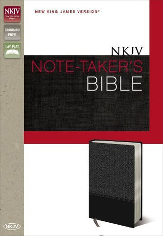 NKJV, Note-Taker's Bible, Imitation Leather, Gray, Lay Flat