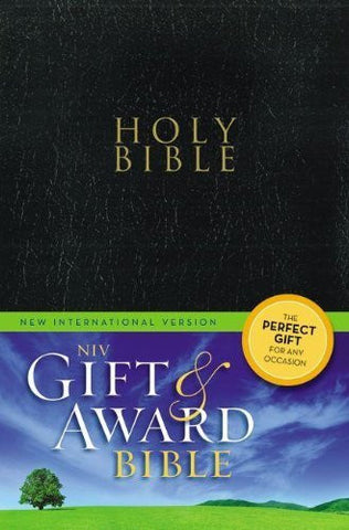 NIV, Gift and Award Bible, Imitation Leather, Black