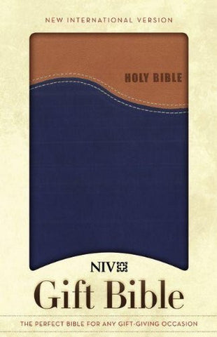NIV Gift Bible, Tan/Blue