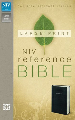 NIV, Reference Bible, Large Print, Imitation Leather, Black,