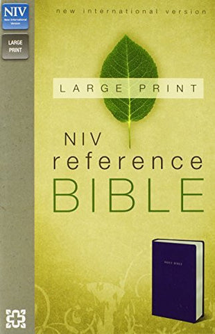 NIV, Reference Bible, Large Print, Imitation Leather, Navy