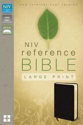 NIV, Reference Bible, Large Print, Bonded Leather, Burgundy
