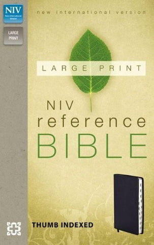 NIV, Reference Bible, Giant Print, Imitation Leather, Navy, Indexed