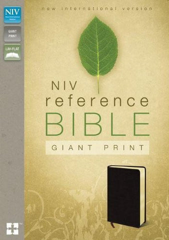 NIV, Reference Bible, Giant Print, Bonded Leather, Burgundy, Lay Flat