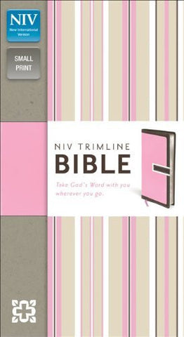 NIV, Trimline Bible, Imitation Leather, Brown/Pink