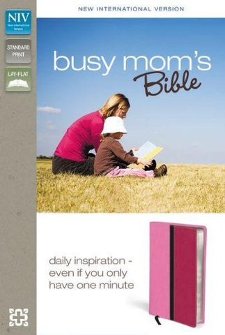 NIV, Busy Mom's Bible, Imitation Leather, Pink/Pink, Lay Flat: Daily Inspiration Even If You Only Have One Minute