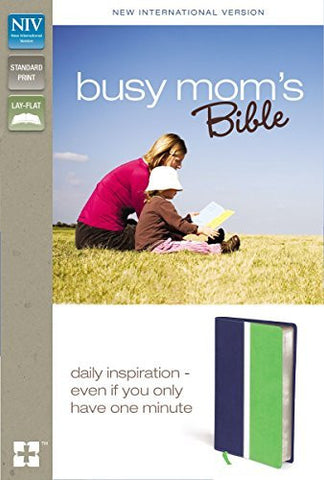 NIV, Busy Mom's Bible, Imitation Leather, Blue/Green, Lay Flat: Daily Inspiration Even If You Only Have One Minute