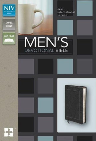 NIV, Men's Devotional Bible, Compact, Imitation Leather, Black