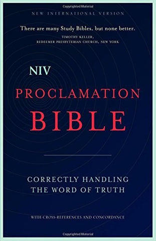 NIV, Proclamation Bible, Hardcover: Correctly Handling the Word of Truth
