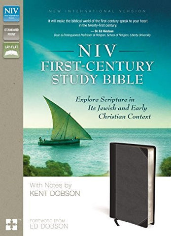 NIV, First-Century Study Bible, Imitation Leather, Black/Gray: Explore Scripture in Its Jewish and Early Christian Context